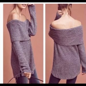 Anthro Moth Lucerne Chenille Tunic Sweater